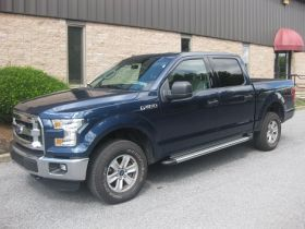Ford F-150 Super Crew Cab Running Boards Romik® RB2-TS Side Steps (2015 - Present)