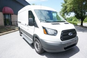 Ford Transit NO DRILL Running Boards Romik® RCV-S Side Steps (2014-Present)