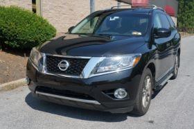 Nissan Pathfinder SUV Running Boards Romik® RAL-S Side Steps (2013-Present)